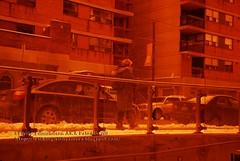 Shot through Orange Glass
