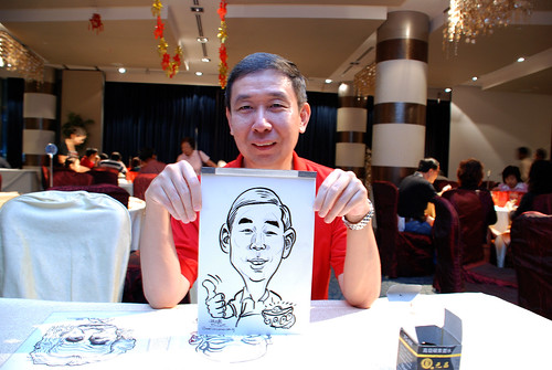 caricature live sketching for OCBC Securities - 1