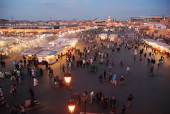 Busy Djemaa el-Fna (reug-baa) Tags: morocco marrakech djema elfna