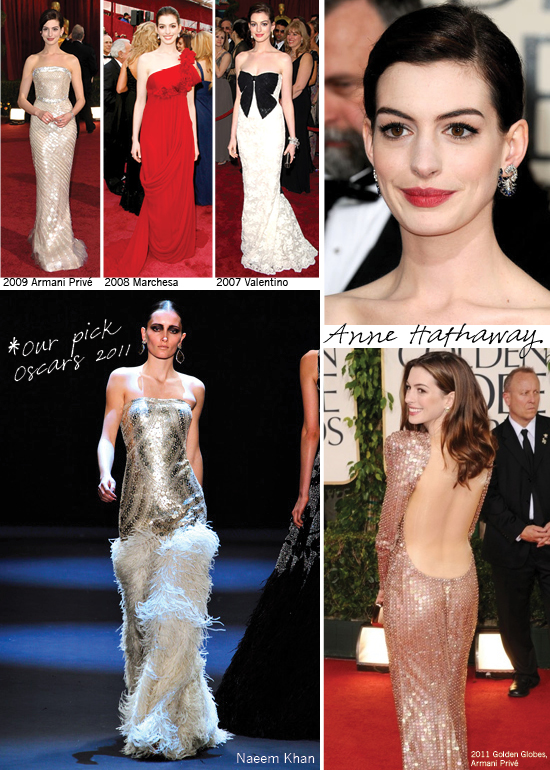 Anne Hathaway, Oscars, Red Carpet Dresses