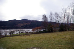 View of Existing Site Looking Southwest Down Loch Tummel