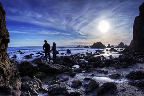 フリー写真素材, 人物, 人と風景, カップル・恋人・夫婦, 海岸, HDR, アメリカ合衆国,