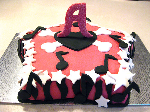 Girly music cake
