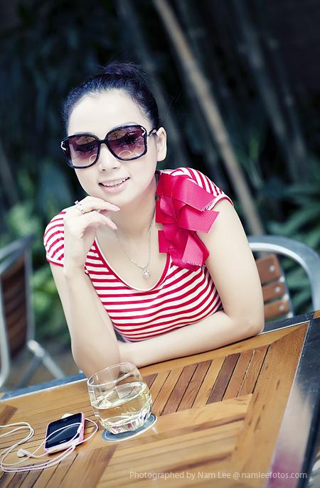hình chân dung model Laura Lai