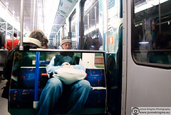 Underground train (Just a guy who likes to take pictures) Tags: voyage street door city travel portrait people urban man holland color colour male art public netherlands dutch amsterdam scarf train bag underground subway tren glasses photo reisen europa europe foto metro candid kunst seat transport tube picture nederland thenetherlands zug tur jeans human transit sit holanda mister nl brille mass zit herr metropolitan metropol stad trein bril deur noordholland niederlande muts reizen gvb ov the kleur mutze vervoer zitten meneer openbaar sneltram public transport paysbais