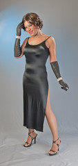 Gowned, Gloved & Glamorous! (kaceycd) Tags: highheels dress sandals tgirl gloves gown stilettoheels pantyhose crossdress spandex lycra tg strappysandals longdress operagloves