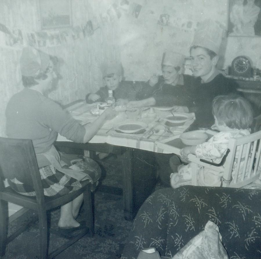 McCreath family Christmas dinner  Bellrock St 1962