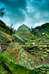 Benmore Fernery (duncanreddish) Tags: rock garden outdoors scotland countryside moss nikon argyll victorian fisheye botanic mountainside peninsula 8mm hdr gully dunoon fernery rbge benmore cowal d90