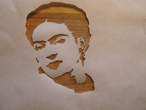 First Frida stencil all cut out