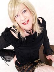 11-Wendy 043a (wendy_glos) Tags: barcelona blue hot sexy girl t lace femme mini skirt tgirl micro blonde transvestite heels fishnets crossdressers tight trans wendy tart crossdresser glos bibian tgirltart