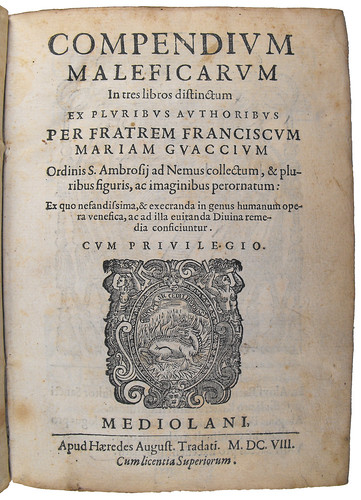 Title page of Compendium maleficarum