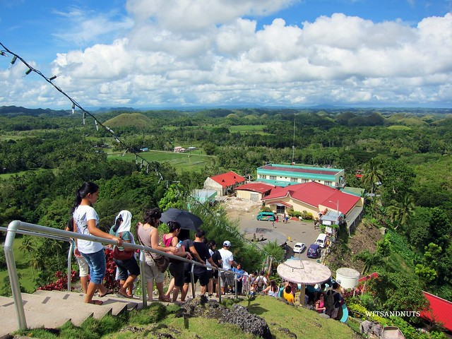 214 steps to Chocolate Hills