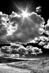It's B&W (Didenze) Tags: sky bw sun texture monochrome clouds contrast landscape day trail sunburst rays sanclemente talega canon450d hdrspotting didenze
