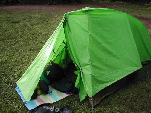 自転車の 自転車旅 テント 重量 : 1250gの小型軽量の登山用テント ...