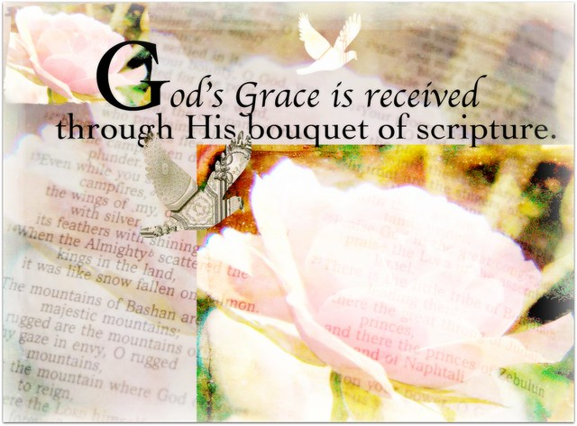 God's grace is received through his scripture
