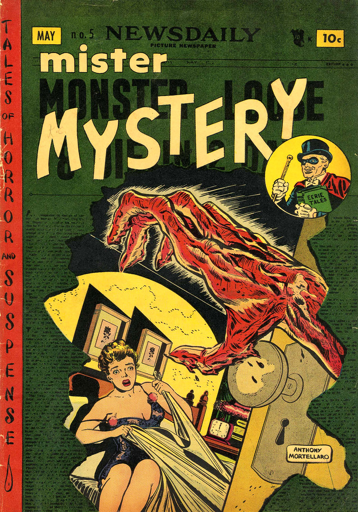 Mister Mystery #5 Anthony Mortellaro Cover (Aragon Magazines, Inc., 1952)