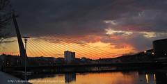 puente de los tirantes en la ciudad de Pontevedra