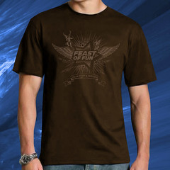 """Angels"" Feast of Fun T-Shirt, Brown / Taupe"