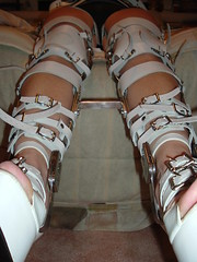 View Showing the Retainer Bar and Fully Braced Legs (KAFOmaker) Tags: feet leather fetish foot high control legs braces lock sandals steel leg wrapped encased bondage device strap torso heel elk straight tight bound buckle locked brace restricted sandal joint buckles chained immobilized restraint restriction polio laced kafo restrained encase orthopedic imprisoned strapped heeled braced restrict buckled encircled immobilize tightly kneepad tlso tlso2