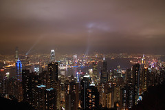 to see your breath as it paints against the sky (lavendars) Tags: china city travel sky cloud slr water night digital canon buildings reflections river island lights is asia day hand chinese peak victoria disney hong kong batman land held scape walt kowloon signal efs 500d 18200mm f3556