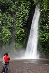 Munduk waterfall with onlookers, Munduk, Bali (travelfishery) Tags: waterfall munduk