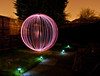 Attpempt #2 with both white & red Rolson lights Getting better :D (Phil 'the link' Whittaker (gizto29)) Tags: longexposure lightpainting nikon orbs spheres d5000 dwcfflightpaint