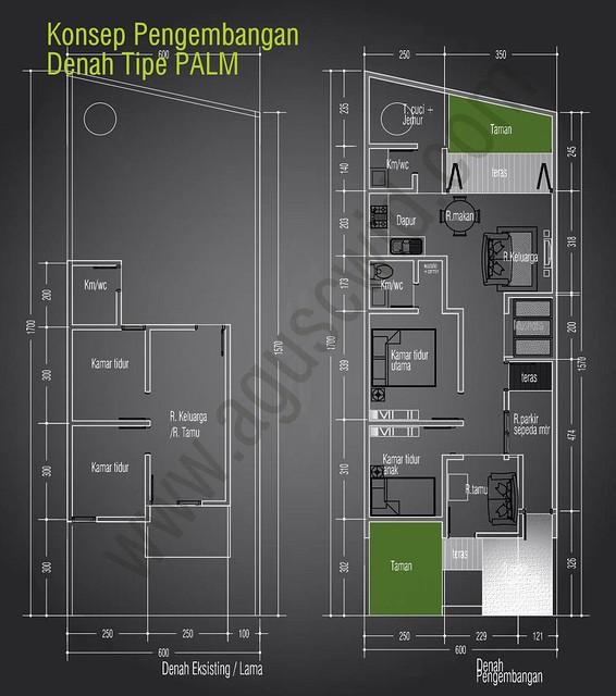 Konsep Denah Tipe Palm