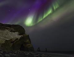 Me llamo Aurora (Islandia) Reynisdrangar (martin zalba) Tags: sky beach stars landscape star iceland islandia paisaje estrellas estrella