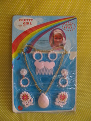 Pretty Girl Jewelry (Retro Mama69) Tags: vintagetoys plasticjewelry retrotoys childhoodtoys juguetesnrfb toysmintcondition nrfbtoys dimestoretoys toysinpackage toysmadeinchina toysmadeinjapan