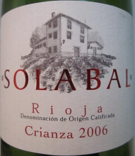 Solabal Crianza 2006