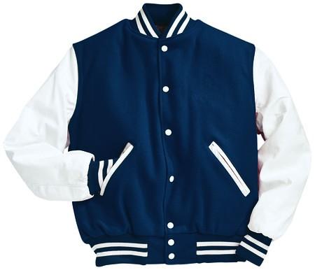 17Wool varsity jacket blue-white