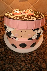 "Hat box baby shower cake top • <a style=""font-size:0.8em;"" href=""http://www.flickr.com/photos/60584691@N02/5524761795/"" target=""_blank"">View on Flickr</a>"
