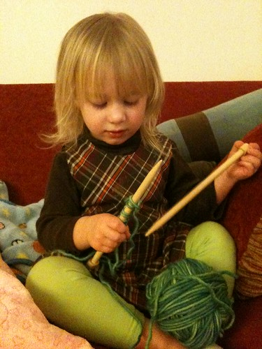 Eve asked me for sticks & yarn...