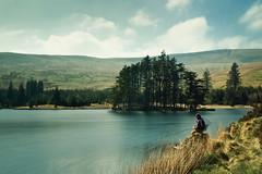 Beacons Reservoir (martinturner) Tags: park uk lake water grass wales reeds landscape fishing fisherman long exposure britain cymru reservoir national brecon beacons martinturner coastuk