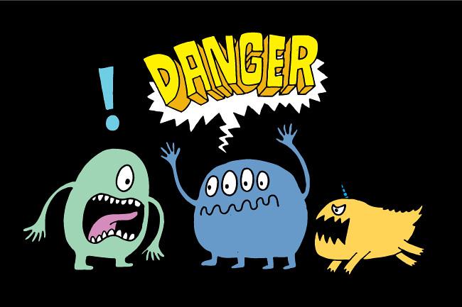 Danger monster attack