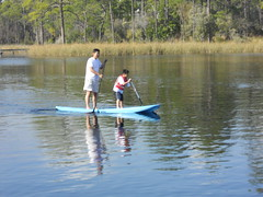 Yolo Boarding on the Western Lake at WaterColor Resort