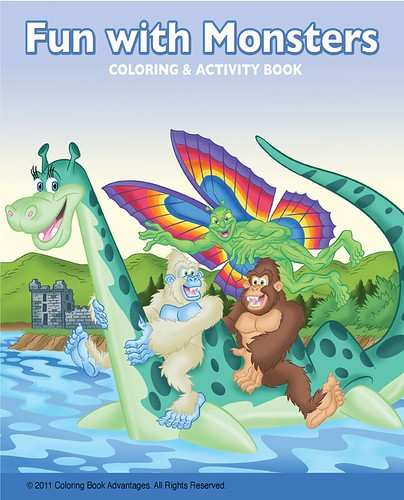 """Coloring Book Advantages"" :: ""Fun with Monsters"" ; Coloring & Activity Book cover (( 2011 ))"