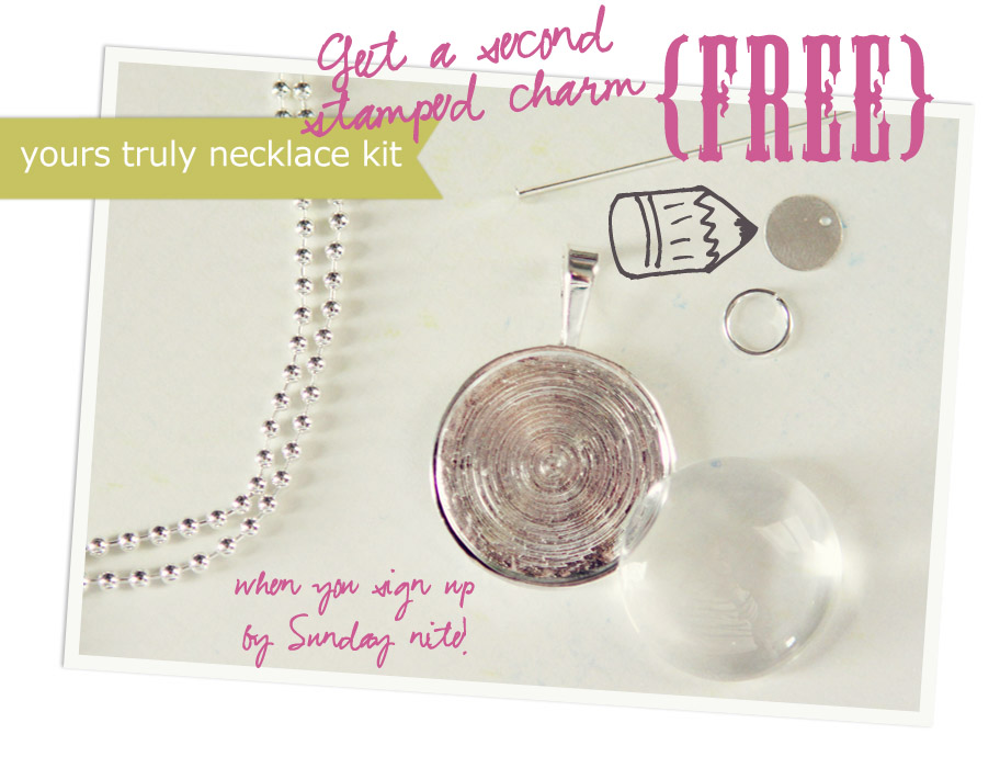 necklace kit free charm