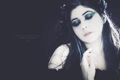' Ariadne ' (Pulverulence Photography - Azita Dahlia) Tags: backlight crystals dynamic performance feathers makeup expressive conceptual hairstyle emotive blackbacground canon350drebel flashmetz48