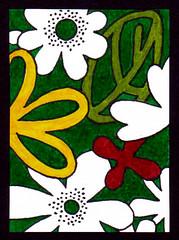 ATC 77 (Made by BeaG) Tags: red white flower green yellow atc groen belgium drawing belgi artisttradingcards geel rood wit markers flowerpower bloemen handdrawn tekening stiften beag artistradingcard getekend designedandmadebybeag ontworpenengemaaktdoorbeag atc77 beagatc77