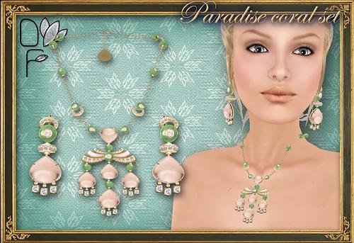 PARADISE coral set