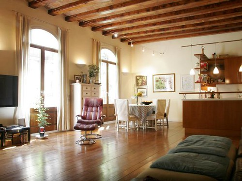 Living / Dining Room - apartment for sale - Barcelona - Spain
