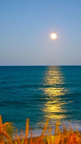 Lua com o dia claro
