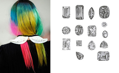 coloured-hair-gems-silver-concept