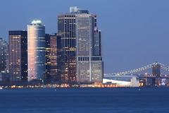 Reflected Sunset (SCH NYC) Tags: nyc newyorkcity sunset cityscape manhattan brooklynbridge bluehour stevehess schnyc