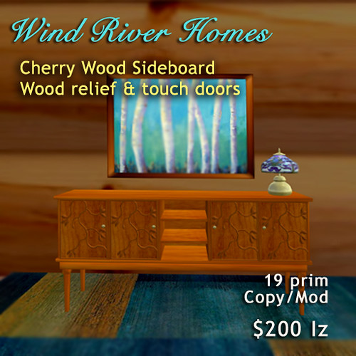 Sideboard v2 - cherry wood by Teal Freenote
