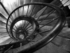 @ (Jack from Paris) Tags: wood bw les stairs spiral noir explorer snail nb panasonic f45 explore ellipse monochrom curve et blanc escargot 34 bois spirale bains escaliers rampe uriage dmcgf1 pancake14mmf25asph p1010988gf1