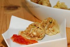 Delicias de feta y nueces en tempura