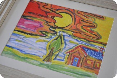 Sarah's house - framed and ready