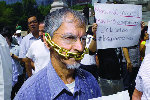 Journalists Protest against rising violence du...